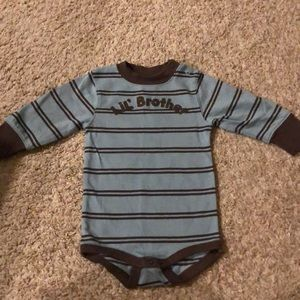 Little brother onesie- size 6-12 mo